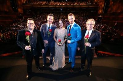 Josh Gad, Luke Evans, Emma Waston, Dan Stevens and Bill Condon attended the China Premiere in Shanghai