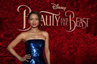 "Gugu Mbatha-Raw arrives for the world premiere of Disney's live-action ""Beauty and the Beast"" at the El Capitan Theatre in Hollywood as the cast and filmmakers continue their worldwide publicity tour. (Photo: Alex J. Berliner/ABImages)"