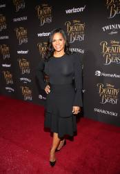 """LOS ANGELES, CA - MARCH 02: Actress Audra McDonald arrives for the world premiere of Disney's live-action """"Beauty and the Beast"""" at the El Capitan Theatre in Hollywood as the cast and filmmakers continue their worldwide publicity tour on March 2, 2017 in Los Angeles, California. (Photo by Jesse Grant/Getty Images for Disney) *** Local Caption *** Audra McDonald"""