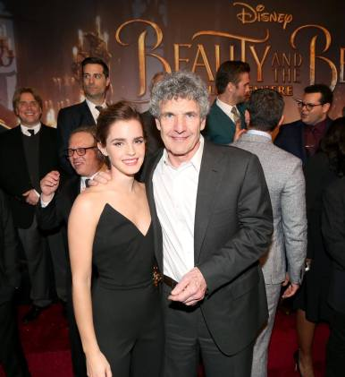 """LOS ANGELES, CA - MARCH 02: Actress Emma Watson and Chairman, The Walt Disney Studios, Alan Horn arrive for the world premiere of Disney's live-action """"Beauty and the Beast"""" at the El Capitan Theatre in Hollywood as the cast and filmmakers continue their worldwide publicity tour on March 2, 2017 in Los Angeles, California. (Photo by Jesse Grant/Getty Images for Disney) *** Local Caption *** Emma Watson; Alan Horn"""