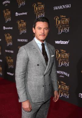 """LOS ANGELES, CA - MARCH 02: Actor Luke Evans arrives for the world premiere of Disney's live-action """"Beauty and the Beast"""" at the El Capitan Theatre in Hollywood as the cast and filmmakers continue their worldwide publicity tour on March 2, 2017 in Los Angeles, California. (Photo by Jesse Grant/Getty Images for Disney) *** Local Caption *** Luke Evans"""