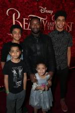 "Penury Oyelowo, Caleb Oyelowo, Asher Oyelowo, Zoe Oyelowo and David Oyelowo arrive for the world premiere of Disney's live-action ""Beauty and the Beast"" at the El Capitan Theatre in Hollywood as the cast and filmmakers continue their worldwide publicity tour. (Photo: Alex J. Berliner/ABImages)"