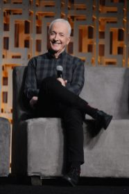 ORLANDO, FL - APRIL 13: Anthony Daniels attends the 40 YEARS OF STAR WARS PANEL during the 2017 STAR WARS CELEBRATION at Orange County Convention Center on April 13, 2017 in Orlando, Florida. (Photo by Gerardo Mora/Getty Images for Disney) *** Local Caption *** Anthony Daniels