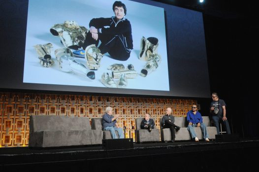 ORLANDO, FL - APRIL 13: George Lucas, Warwick Davis, Anthony Daniels, Billy Dee Williams and Peter Mayhew attend the 40 YEARS OF STAR WARS PANEL during the 2017 STAR WARS CELEBRATION at Orange County Convention Center on April 13, 2017 in Orlando, Florida. (Photo by Gerardo Mora/Getty Images for Disney) *** Local Caption *** George Lucas;Warwick Davis;Anthony Daniels;Billy Dee Williams;Peter Mayhew
