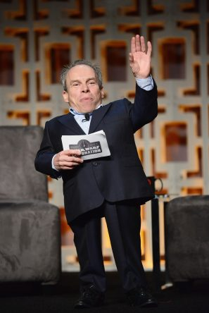 ORLANDO, FL - APRIL 13: Warwick Davis attends the 40 YEARS OF STAR WARS PANEL during the 2017 STAR WARS CELEBRATION at Orange County Convention Center on April 13, 2017 in Orlando, Florida. (Photo by Gerardo Mora/Getty Images for Disney) *** Local Caption *** Warwick Davis
