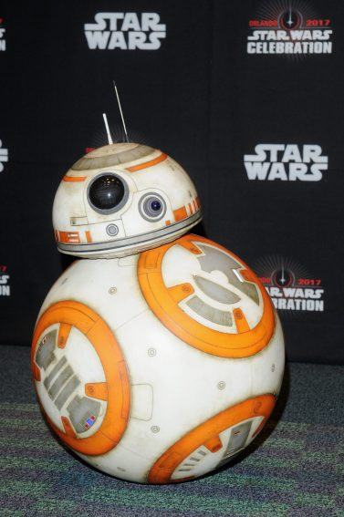 ORLANDO, FL - APRIL 14: BB-8 attends the STAR WARS: THE LAST JEDI PANEL during the 2017 STAR WARS CELEBRATION at Orange County Convention Center on April 14, 2017 in Orlando, Florida. (Photo by Gerardo Mora/Getty Images for Disney) *** Local Caption *** BB-8