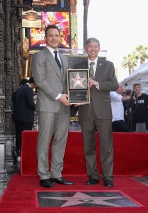 HOLLYWOOD, CA - APRIL 21: Actor Chris Pratt (L) and Hollywood Chamber of Commerce, President/CEO Leron Gubler at the Chris Pratt Walk Of Fame Star Ceremony on April 21, 2017 in Hollywood, California. (Photo by Jesse Grant/Getty Images for Disney) *** Local Caption *** Chris Pratt; Leron Gubler