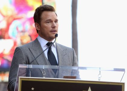 HOLLYWOOD, CA - APRIL 21: Actor Chris Pratt at the Chris Pratt Walk Of Fame Star Ceremony on April 21, 2017 in Hollywood, California. (Photo by Jesse Grant/Getty Images for Disney) *** Local Caption *** Chris Pratt