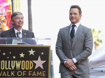 HOLLYWOOD, CA - APRIL 21: Hollywood Chamber of Commerce, President/CEO Leron Gubler (L) and actor Chris Pratt at the Chris Pratt Walk Of Fame Star Ceremony on April 21, 2017 in Hollywood, California. (Photo by Jesse Grant/Getty Images for Disney) *** Local Caption *** Leron Gubler; Chris Pratt