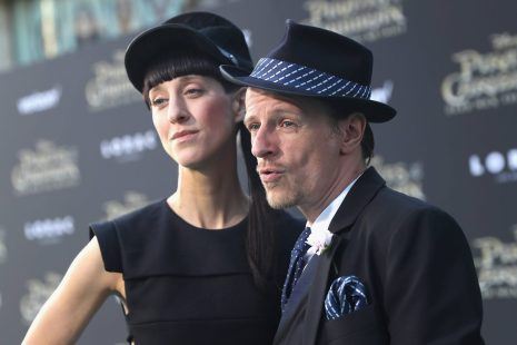 """HOLLYWOOD, CA - MAY 18: Designer Esther Perbandt and actor Alexander Scheer at the Premiere of Disney's and Jerry Bruckheimer Films' """"Pirates of the Caribbean: Dead Men Tell No Tales,"""" at the Dolby Theatre in Hollywood, CA with Johnny Depp as the one-and-only Captain Jack in a rollicking new tale of the high seas infused with the elements of fantasy, humor and action that have resulted in an international phenomenon for the past 13 years. May 18, 2017 in Hollywood, California. (Photo by Rich Polk/Getty Images for Disney) *** Local Caption *** Esther Perbandt; Alexander Scheer"""