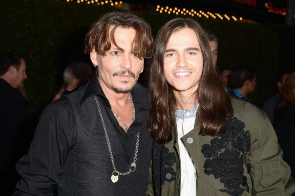 """HOLLYWOOD, CA - MAY 18: Actors Johnny Depp (L) and Anthony De La Torre at the Premiere of Disney's and Jerry Bruckheimer Films' """"Pirates of the Caribbean: Dead Men Tell No Tales,"""" at the Dolby Theatre in Hollywood, CA with Johnny Depp as the one-and-only Captain Jack in a rollicking new tale of the high seas infused with the elements of fantasy, humor and action that have resulted in an international phenomenon for the past 13 years. May 18, 2017 in Hollywood, California. (Photo by Marc Flores/Getty Images for Disney) *** Local Caption *** Johnny Depp; Anthony De La Torre"""