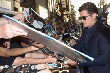 """HOLLYWOOD, CA - MAY 18: Actor Orlando Bloom at the Premiere of Disney's and Jerry Bruckheimer Films' """"Pirates of the Caribbean: Dead Men Tell No Tales,"""" at the Dolby Theatre in Hollywood, CA with Johnny Depp as the one-and-only Captain Jack in a rollicking new tale of the high seas infused with the elements of fantasy, humor and action that have resulted in an international phenomenon for the past 13 years. May 18, 2017 in Hollywood, California. (Photo by Marc Flores/Getty Images for Disney) *** Local Caption *** Orlando Bloom"""