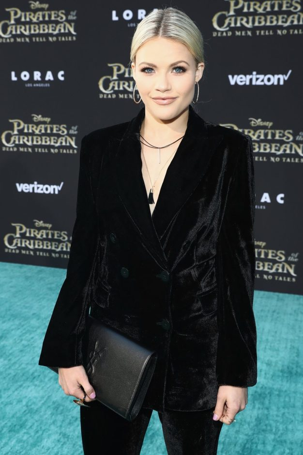 """HOLLYWOOD, CA - MAY 18: Professional dancer Witney Carson at the Premiere of Disney's and Jerry Bruckheimer Films' """"Pirates of the Caribbean: Dead Men Tell No Tales,"""" at the Dolby Theatre in Hollywood, CA with Johnny Depp as the one-and-only Captain Jack in a rollicking new tale of the high seas infused with the elements of fantasy, humor and action that have resulted in an international phenomenon for the past 13 years. May 18, 2017 in Hollywood, California. (Photo by Rich Polk/Getty Images for Disney) *** Local Caption *** Witney Carson"""