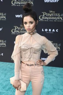 """HOLLYWOOD, CA - MAY 18: Actor Jenna Ortega at the Premiere of Disney's and Jerry Bruckheimer Films' """"Pirates of the Caribbean: Dead Men Tell No Tales,"""" at the Dolby Theatre in Hollywood, CA with Johnny Depp as the one-and-only Captain Jack in a rollicking new tale of the high seas infused with the elements of fantasy, humor and action that have resulted in an international phenomenon for the past 13 years. May 18, 2017 in Hollywood, California. (Photo by Rich Polk/Getty Images for Disney) *** Local Caption *** Jenna Ortega"""