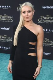 """HOLLYWOOD, CA - MAY 18: Alpine ski racer Lindsey Vonn at the Premiere of Disney's and Jerry Bruckheimer Films' """"Pirates of the Caribbean: Dead Men Tell No Tales,"""" at the Dolby Theatre in Hollywood, CA with Johnny Depp as the one-and-only Captain Jack in a rollicking new tale of the high seas infused with the elements of fantasy, humor and action that have resulted in an international phenomenon for the past 13 years. May 18, 2017 in Hollywood, California. (Photo by Rich Polk/Getty Images for Disney) *** Local Caption *** Lindsey Vonn"""