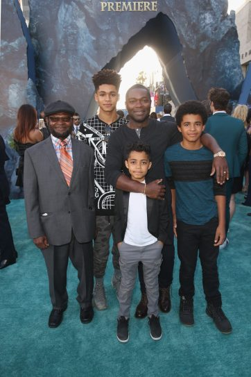 """HOLLYWOOD, CA - MAY 18: Actor David Oyelowo (C) and family at the Premiere of Disney's and Jerry Bruckheimer Films' """"Pirates of the Caribbean: Dead Men Tell No Tales,"""" at the Dolby Theatre in Hollywood, CA with Johnny Depp as the one-and-only Captain Jack in a rollicking new tale of the high seas infused with the elements of fantasy, humor and action that have resulted in an international phenomenon for the past 13 years. May 18, 2017 in Hollywood, California. (Photo by Jesse Grant/Getty Images for Disney) *** Local Caption *** David Oyelowo"""