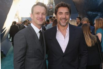 """HOLLYWOOD, CA - MAY 18: President of Walt Disney Studios Motion Picture Production, Sean Bailey (L) and Actor Javier Bardem at the Premiere of Disney's and Jerry Bruckheimer Films' """"Pirates of the Caribbean: Dead Men Tell No Tales,"""" at the Dolby Theatre in Hollywood, CA with Johnny Depp as the one-and-only Captain Jack in a rollicking new tale of the high seas infused with the elements of fantasy, humor and action that have resulted in an international phenomenon for the past 13 years. May 18, 2017 in Hollywood, California. (Photo by Jesse Grant/Getty Images for Disney) *** Local Caption *** Sean Bailey; Javier Bardem"""
