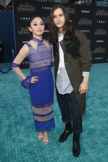 """HOLLYWOOD, CA - MAY 18: Actors Lana Condor (L) and Anthony De La Torre at the Premiere of Disney's and Jerry Bruckheimer Films' """"Pirates of the Caribbean: Dead Men Tell No Tales,"""" at the Dolby Theatre in Hollywood, CA with Johnny Depp as the one-and-only Captain Jack in a rollicking new tale of the high seas infused with the elements of fantasy, humor and action that have resulted in an international phenomenon for the past 13 years. May 18, 2017 in Hollywood, California. (Photo by Rich Polk/Getty Images for Disney) *** Local Caption *** Lana Condor; Anthony De La Torre"""