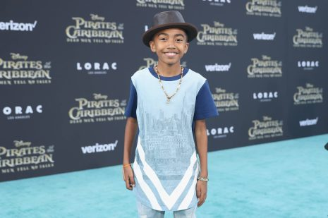 """HOLLYWOOD, CA - MAY 18: Actor Miles Brown at the Premiere of Disney's and Jerry Bruckheimer Films' """"Pirates of the Caribbean: Dead Men Tell No Tales,"""" at the Dolby Theatre in Hollywood, CA with Johnny Depp as the one-and-only Captain Jack in a rollicking new tale of the high seas infused with the elements of fantasy, humor and action that have resulted in an international phenomenon for the past 13 years. May 18, 2017 in Hollywood, California. (Photo by Rich Polk/Getty Images for Disney) *** Local Caption *** Miles Brown"""