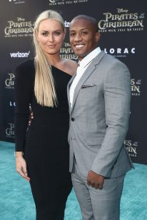 """HOLLYWOOD, CA - MAY 18: Alpine ski racer Lindsey Vonn (L) and Kenan Smith at the Premiere of Disney's and Jerry Bruckheimer Films' """"Pirates of the Caribbean: Dead Men Tell No Tales,"""" at the Dolby Theatre in Hollywood, CA with Johnny Depp as the one-and-only Captain Jack in a rollicking new tale of the high seas infused with the elements of fantasy, humor and action that have resulted in an international phenomenon for the past 13 years. May 18, 2017 in Hollywood, California. (Photo by Rich Polk/Getty Images for Disney) *** Local Caption *** Lindsey Vonn; Kenan Smith"""