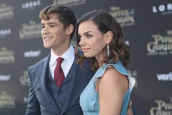 """HOLLYWOOD, CA - MAY 18: Actor Brenton Thwaites (L) and Chloe Pacey at the Premiere of Disney's and Jerry Bruckheimer Films' """"Pirates of the Caribbean: Dead Men Tell No Tales,"""" at the Dolby Theatre in Hollywood, CA with Johnny Depp as the one-and-only Captain Jack in a rollicking new tale of the high seas infused with the elements of fantasy, humor and action that have resulted in an international phenomenon for the past 13 years. May 18, 2017 in Hollywood, California. (Photo by Rich Polk/Getty Images for Disney) *** Local Caption *** Brenton Thwaites; Chloe Pacey"""