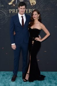 """HOLLYWOOD, CA - MAY 18: Actors Benjamin Walker (L) and Kaya Scodelario at the Premiere of Disney's and Jerry Bruckheimer Films' """"Pirates of the Caribbean: Dead Men Tell No Tales,"""" at the Dolby Theatre in Hollywood, CA with Johnny Depp as the one-and-only Captain Jack in a rollicking new tale of the high seas infused with the elements of fantasy, humor and action that have resulted in an international phenomenon for the past 13 years. May 18, 2017 in Hollywood, California. (Photo by Marc Flores/Getty Images for Disney) *** Local Caption *** Benjamin Walker; Kaya Scodelario"""