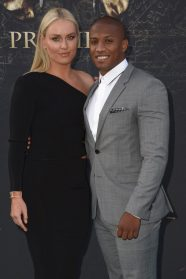 "HOLLYWOOD, CA - MAY 18: Alpine ski racer Lindsey Vonn (L) and Kenan Smith at the Premiere of Disney's and Jerry Bruckheimer Films' ""Pirates of the Caribbean: Dead Men Tell No Tales,"" at the Dolby Theatre in Hollywood, CA with Johnny Depp as the one-and-only Captain Jack in a rollicking new tale of the high seas infused with the elements of fantasy, humor and action that have resulted in an international phenomenon for the past 13 years. May 18, 2017 in Hollywood, California. (Photo by Marc Flores/Getty Images for Disney) *** Local Caption *** Lindsey Vonn; Kenan Smith"