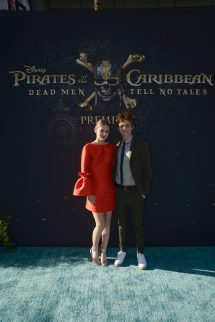 """HOLLYWOOD, CA - MAY 18: Actors Ryan Simpkins (L) and Ty Simpkins at the Premiere of Disney's and Jerry Bruckheimer Films' """"Pirates of the Caribbean: Dead Men Tell No Tales,"""" at the Dolby Theatre in Hollywood, CA with Johnny Depp as the one-and-only Captain Jack in a rollicking new tale of the high seas infused with the elements of fantasy, humor and action that have resulted in an international phenomenon for the past 13 years. May 18, 2017 in Hollywood, California. (Photo by Marc Flores/Getty Images for Disney) *** Local Caption *** Ryan Simpkins; Ty Simpkins"""