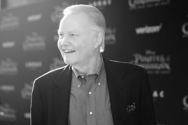 """HOLLYWOOD, CA - MAY 18: (EDITOR'S NOTE: Image has been shot in black and white.) Actor Jon Voight at the Premiere of Disney's and Jerry Bruckheimer Films' """"Pirates of the Caribbean: Dead Men Tell No Tales,"""" at the Dolby Theatre in Hollywood, CA with Johnny Depp as the one-and-only Captain Jack in a rollicking new tale of the high seas infused with the elements of fantasy, humor and action that have resulted in an international phenomenon for the past 13 years. May 18, 2017 in Hollywood, California. (Photo by Rich Polk/Getty Images for Disney) *** Local Caption *** Jon Voight"""