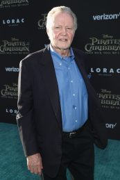 """HOLLYWOOD, CA - MAY 18: Actor Jon Voight at the Premiere of Disney's and Jerry Bruckheimer Films' """"Pirates of the Caribbean: Dead Men Tell No Tales,"""" at the Dolby Theatre in Hollywood, CA with Johnny Depp as the one-and-only Captain Jack in a rollicking new tale of the high seas infused with the elements of fantasy, humor and action that have resulted in an international phenomenon for the past 13 years. May 18, 2017 in Hollywood, California. (Photo by Rich Polk/Getty Images for Disney) *** Local Caption *** Jon Voight"""