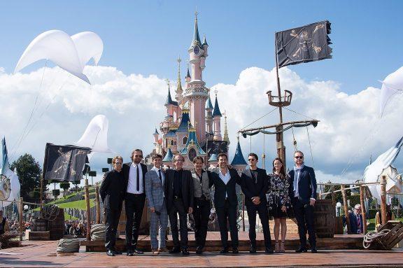 PARIS, FRANCE - MAY 14: The cast, directors and producer attend the European Premiere to celebrate the release of Disney's Pirates of the Caribbean: Salazar's Revenge at Disneyland Paris on May 14, 2017 in Paris, France. (Photo by Francois Durand/Getty Images for Disney)