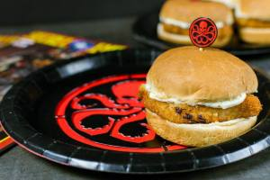 Geek Eats: Hydra Schnitzel Sliders with Lemon Caper Aioli Recipe