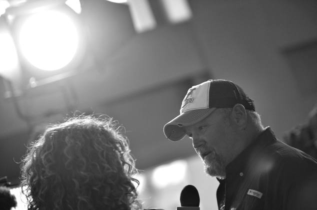 """ANAHEIM, CA - JUNE 10: (EDITORS NOTE: Image has been shot in black and white) Actor Larry the Cable Guy at the World Premiere of Disney/Pixarís ìCars 3"""" at the Anaheim Convention Center on June 10, 2017 in Anaheim, California. (Photo by Charley Gallay/Getty Images for Disney) *** Local Caption *** Larry the Cable Guy"""
