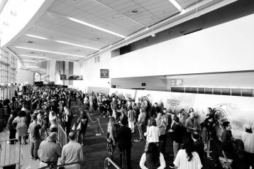 """ANAHEIM, CA - JUNE 10: (EDITORS NOTE: Image has been shot in black and white) A view of the atmosphere at the World Premiere of Disney/Pixarís ìCars 3"""" at the Anaheim Convention Center on June 10, 2017 in Anaheim, California. (Photo by Charley Gallay/Getty Images for Disney)"""
