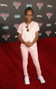 """ANAHEIM, CA - JUNE 10: Actor Marsai Martin poses at the World Premiere of Disney/Pixarís ìCars 3"""" at the Anaheim Convention Center on June 10, 2017 in Anaheim, California. (Photo by Jesse Grant/Getty Images for Disney) *** Local Caption *** Marsai Martin"""