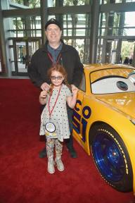 "ANAHEIM, CA - JUNE 10: President of Marvel Studios Kevin Feige and guest at the World Premiere of Disney/Pixarís ìCars 3"" at the Anaheim Convention Center on June 10, 2017 in Anaheim, California. (Photo by Alberto E. Rodriguez/Getty Images for Disney) *** Local Caption *** Kevin Feige"