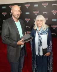 """ANAHEIM, CA - JUNE 10: Actor Lloyd Sherr (L) and guest at the World Premiere of Disney/Pixarís ìCars 3"""" at the Anaheim Convention Center on June 10, 2017 in Anaheim, California. (Photo by Jesse Grant/Getty Images for Disney) *** Local Caption *** Lloyd Sherr"""