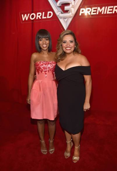 "ANAHEIM, CA - JUNE 10: Actors Kerry Washington (L) and Cristela Alonzo pose at the World Premiere of Disney/Pixarís ìCars 3"" at the Anaheim Convention Center on June 10, 2017 in Anaheim, California. (Photo by Alberto E. Rodriguez/Getty Images for Disney) *** Local Caption *** Kerry Washington;Cristela Alonzo"