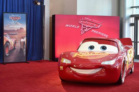 """ANAHEIM, CA - JUNE 10: A view of the atmosphere at the World Premiere of Disney/Pixarís ìCars 3"""" at the Anaheim Convention Center on June 10, 2017 in Anaheim, California. (Photo by Alberto E. Rodriguez/Getty Images for Disney)"""