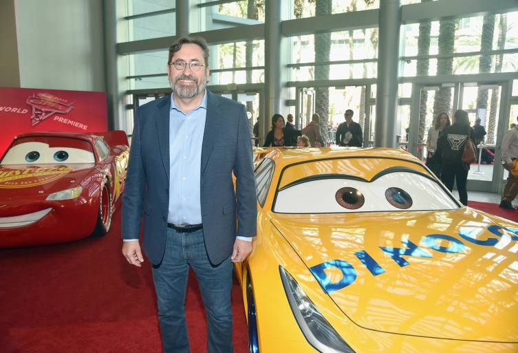 """ANAHEIM, CA - JUNE 10: Screenwriter Bob Peterson at the World Premiere of Disney/Pixarís ìCars 3"""" at the Anaheim Convention Center on June 10, 2017 in Anaheim, California. (Photo by Alberto E. Rodriguez/Getty Images for Disney) *** Local Caption *** Bob Peterson"""