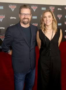 """ANAHEIM, CA - JUNE 10: Director of Pixar's new short """"LOU"""" Dave Mullins (L) and Producer of Pixar's new short """"LOU"""" Dana Murray at the World Premiere of Disney/Pixarís ìCars 3"""" at the Anaheim Convention Center on June 10, 2017 in Anaheim, California. (Photo by Jesse Grant/Getty Images for Disney) *** Local Caption *** Dave Mullins;Dana Murray"""
