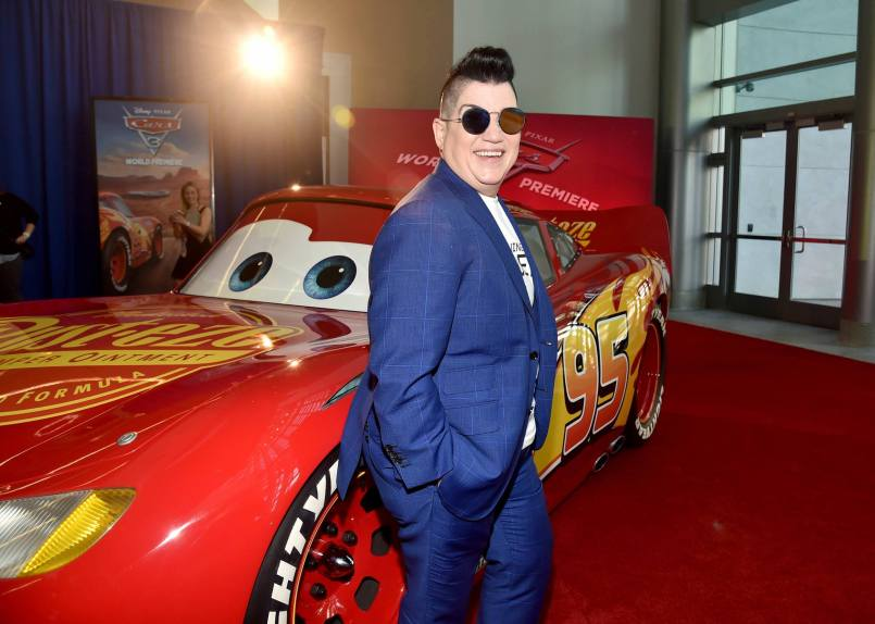 "ANAHEIM, CA - JUNE 10: Actor Lea DeLaria poses at the World Premiere of Disney/Pixarís ìCars 3"" at the Anaheim Convention Center on June 10, 2017 in Anaheim, California. (Photo by Alberto E. Rodriguez/Getty Images for Disney) *** Local Caption *** Lea DeLaria"