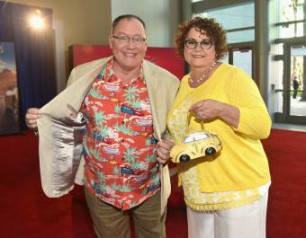 """ANAHEIM, CA - JUNE 10: Executive producer John Lasseter (L) and Nancy Lasseter at the World Premiere of Disney/Pixarís ìCars 3"""" at the Anaheim Convention Center on June 10, 2017 in Anaheim, California. (Photo by Alberto E. Rodriguez/Getty Images for Disney) *** Local Caption *** John Lasseter;Nancy Lasseter"""