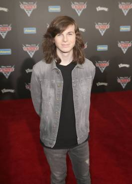 """ANAHEIM, CA - JUNE 10: Actor Chandler Riggs at the World Premiere of Disney/Pixarís ìCars 3"""" at the Anaheim Convention Center on June 10, 2017 in Anaheim, California. (Photo by Jesse Grant/Getty Images for Disney) *** Local Caption *** Chandler Riggs"""