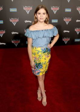 """ANAHEIM, CA - JUNE 10: Actor Kyla Kenedy poses at the World Premiere of Disney/Pixarís ìCars 3"""" at the Anaheim Convention Center on June 10, 2017 in Anaheim, California. (Photo by Jesse Grant/Getty Images for Disney) *** Local Caption *** Kyla Kenedy"""