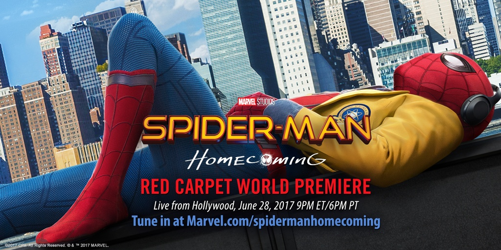 Watch the Spider-Man: Homecoming World Premiere Live From Hollywood!