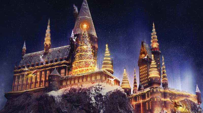 Christmas at Wizarding World of Harry Potter at Universal Studios Hollywood