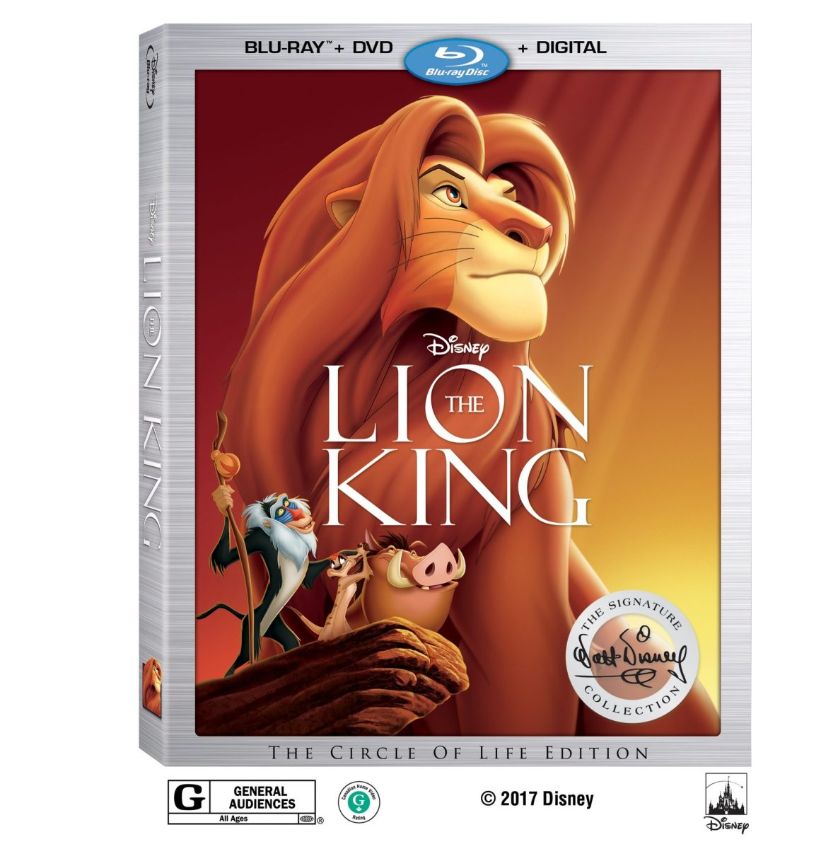 Disney's The Lion King Walt Disney Signature Collection Coming to Blu-Ray This August
