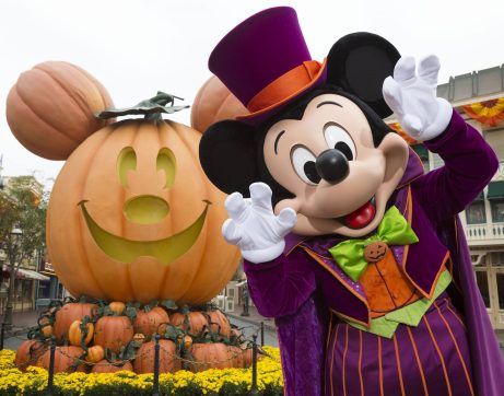 MICKEY MOUSE CELEBRATES HALLOWEEN TIME (ANAHEIM, Calif.) –– During Halloween Time, Disneyland park guests will encounter beloved characters dressed in fun seasonal costumes, including Mickey Mouse. The Halloween season at the Disneyland Resort, which also features special attractions and entertainment, runs from Sept. 15 through Oct. 31, 2017. (Scott Brinegar/Disneyland Resort)