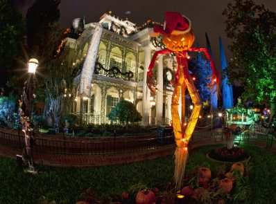 "HALLOWEEN TIME AT THE DISNEYLAND RESORT (ANAHEIM, Calif.) – Haunted Mansion Holiday brings the frightfully fun cheer of ""Tim Burton's Nightmare Before Christmas"" to the Disneyland Resort. Halloween Time at the Disneyland Resort returns from Sept. 15 through Oct. 31, 2017 with spooky seasonal décor, themed food and beverage offerings and attractions that get a seasonal overlay for Halloween. New in 2017, guests will be able to celebrate with their favorite Radiator Springs residents in Cars Land, which is getting decked out for Haul-O-Ween. (Paul Hiffmeyer/Disneyland)"